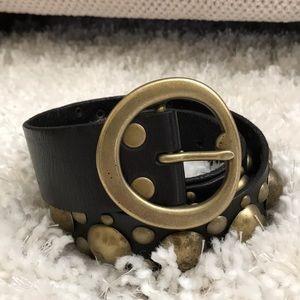 Beautiful leather and brass belt